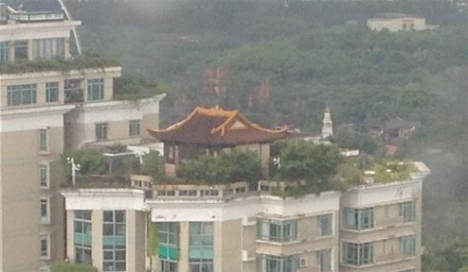 Illegal Rooftop Temple China 2