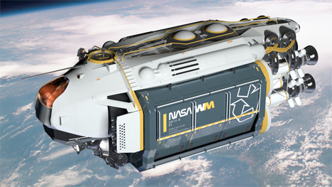 Imaginary Vehicles NASA Garbage Ship