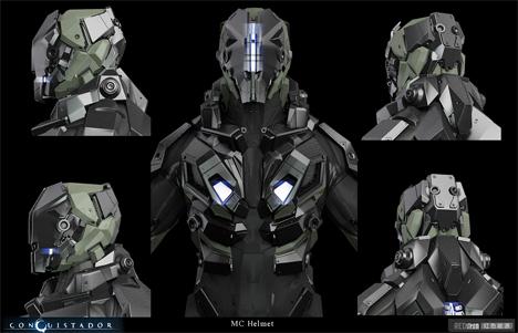 Imaginary Wearable Tech MC Helmet