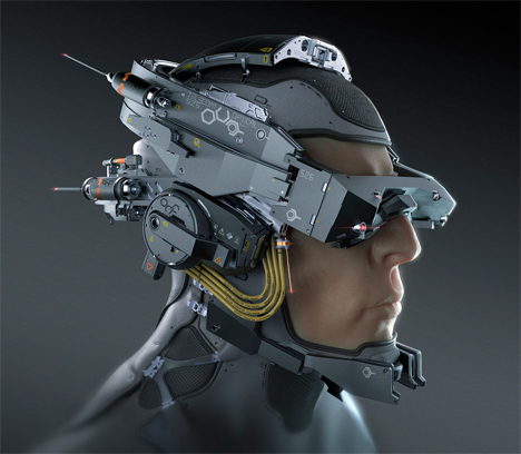 Imaginary Wearable Tech Telecom Helmet