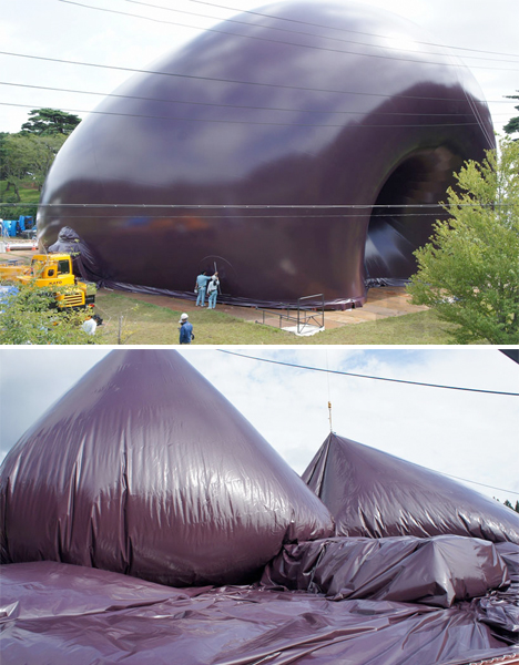 Blow up building inflatable concert hall tours japan for Inflatable concert hall