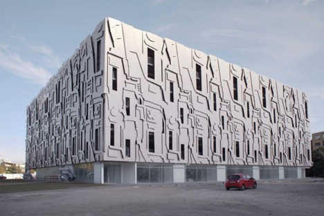 baroque parking garage facade