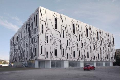 baroque parking garage facade