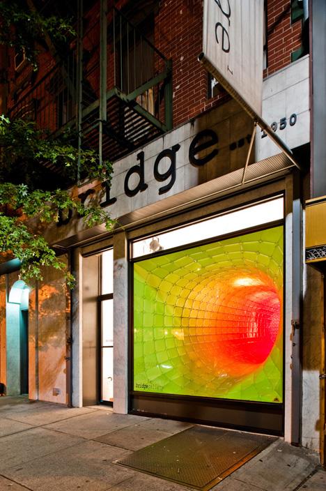 chromatic storefront installation art