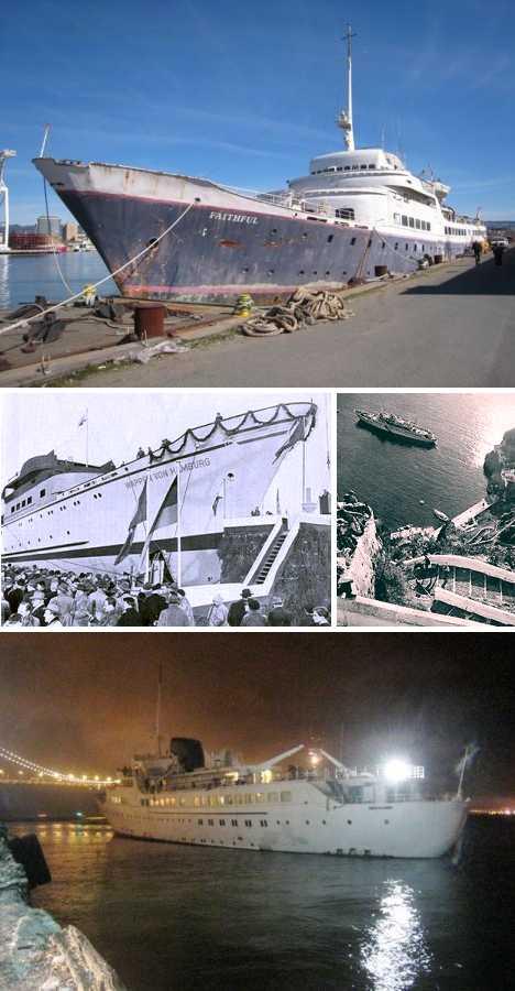 abandoned MV Aurora Faithful cruise ship