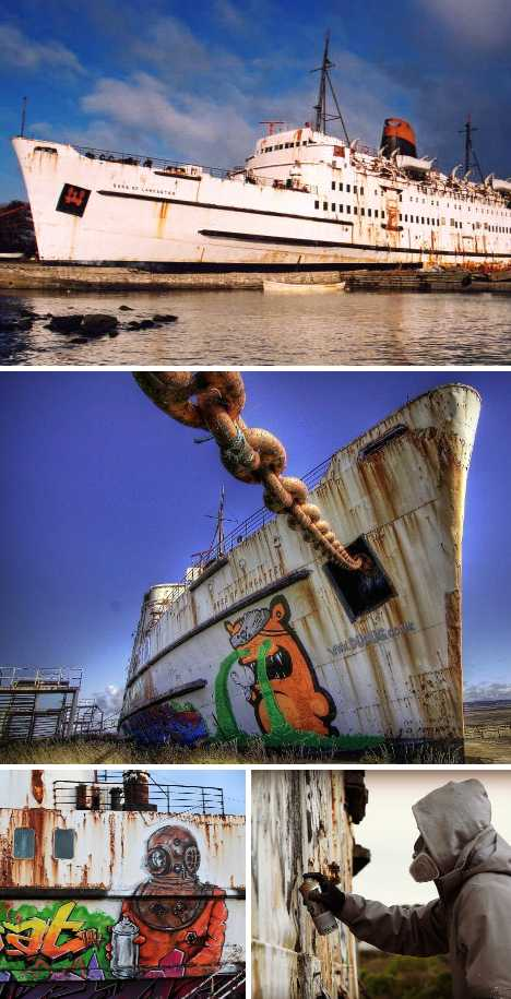 abandoned Duke of Lancaster cruise ship
