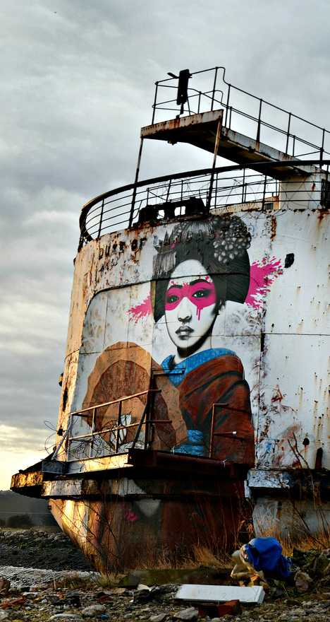 abandoned cruise ship Duke of Lancaster