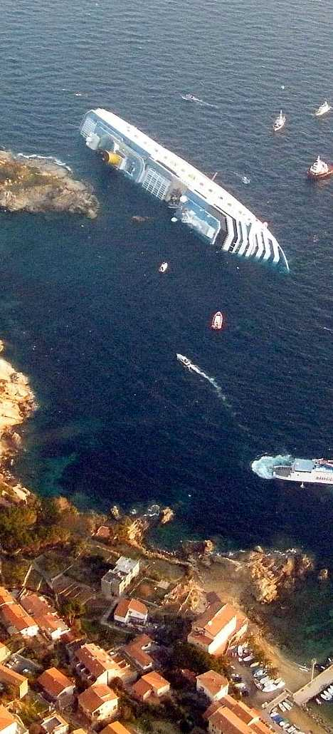 shipwrecked Costa Concordia cruise ship