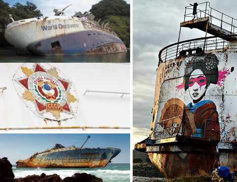 abandoned cruise ships ocean liners