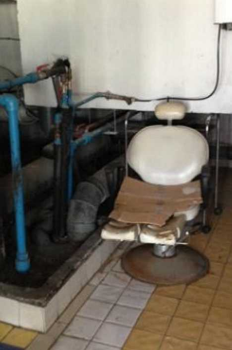 Le Palace d'Anfa Morocco abandoned dentist office chair