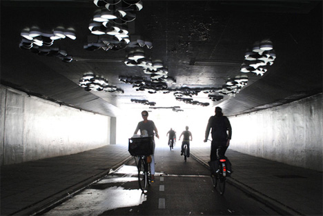 dutmala tunnel interactive light sculpture