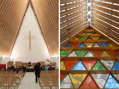 earthquake proof cardboard church