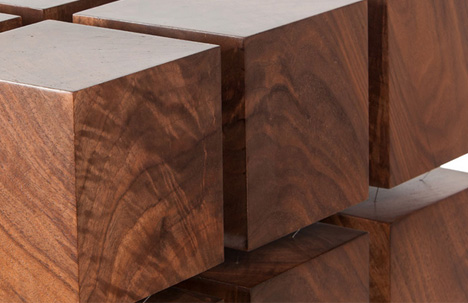 floating table wood wires