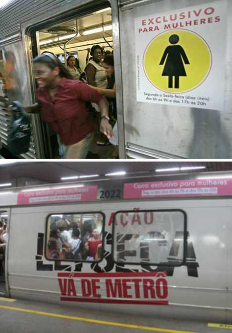 women-only cars Rio de janeiro Metro Brazil subway