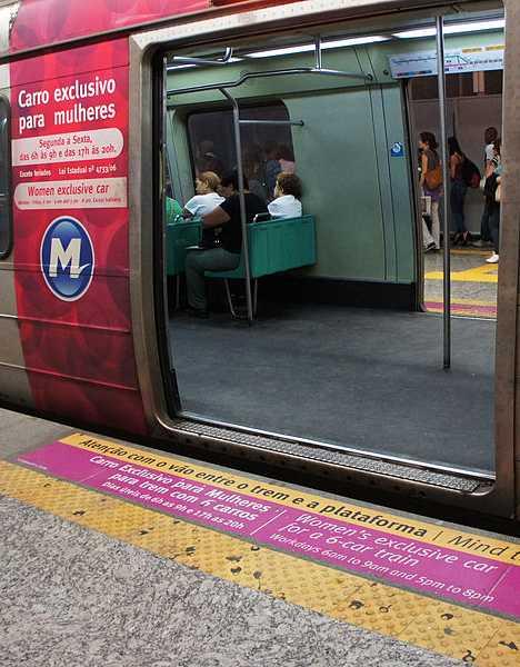 women-only car Rio de Janeiro Metro Brazil subway