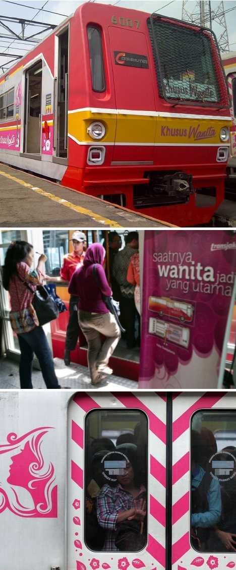 Kereta Khusus Wanita Indonesia women-only commuter trains