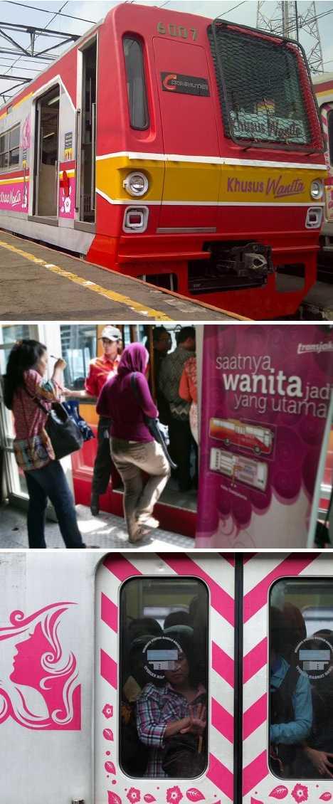 Kereta Khusus Wanita Indonesia women-only commuter trains