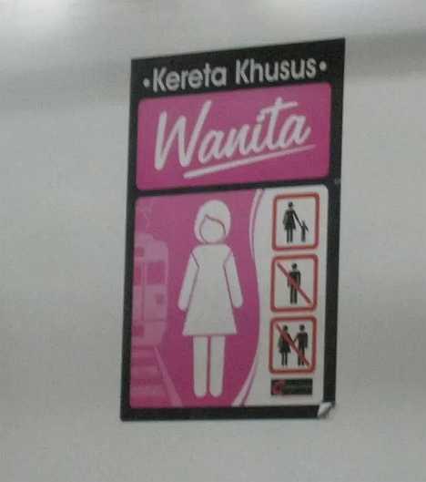 Kereta Khusus Wanita Indonesia women-only train