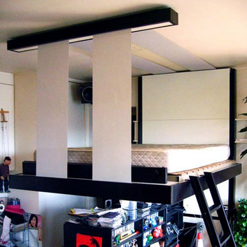 Liftbed Amp Bedup 2 Space Saving Beds Stored On Ceilings