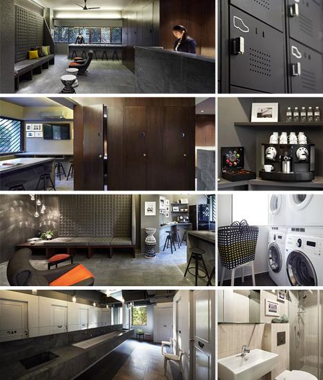 pod hotel amenities various