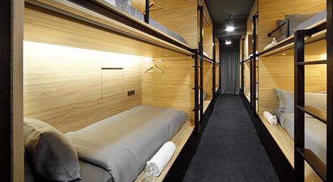 pod hotel interior design