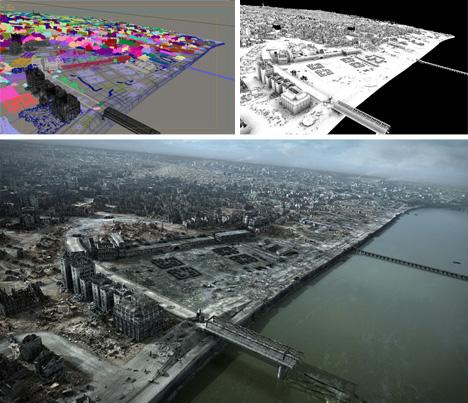 poland 3d model city