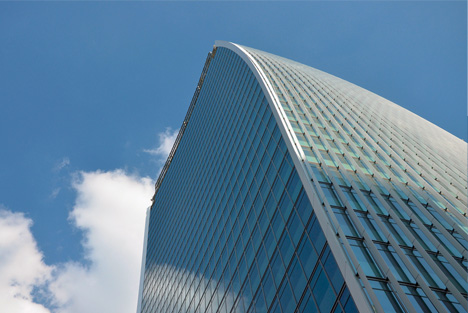 reflecive building shape curved