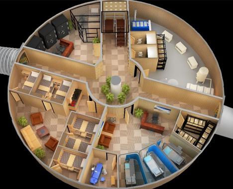 survivalist subterranean community space