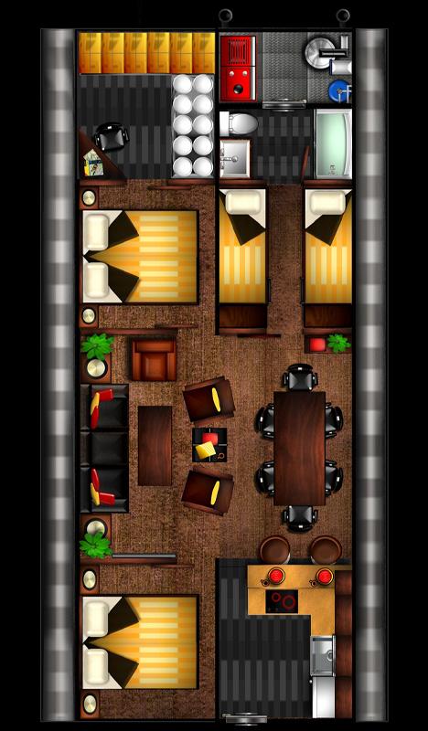 underground bunk floor plan