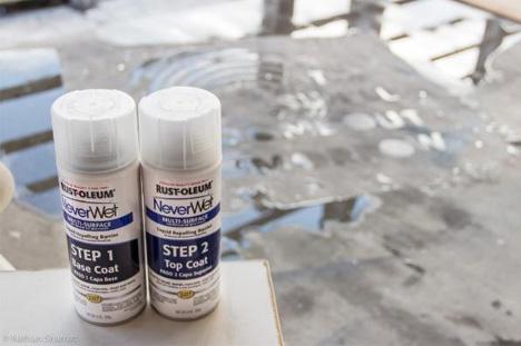 wet spray paint idea