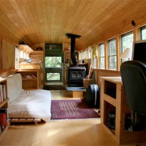 Converted Buses Wood Stove X