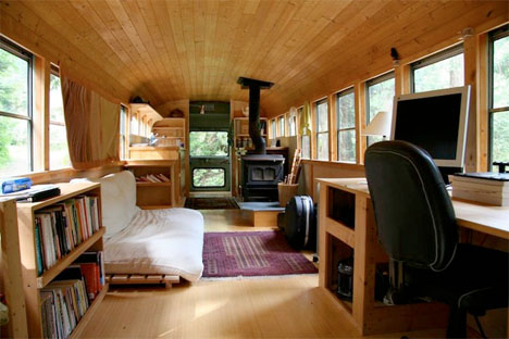 Converted Buses Wood Stove 2