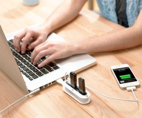 Cord Organizers Contort USB Hub