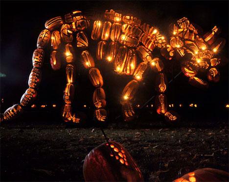 Dinosaur Jack O Lanterns Pumpkins 1