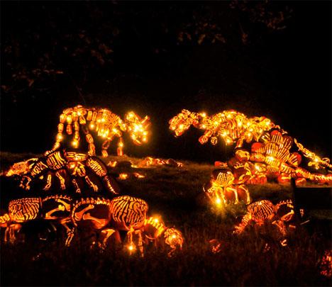 Dinosaur Pumpkins Jack O Lanterns 2