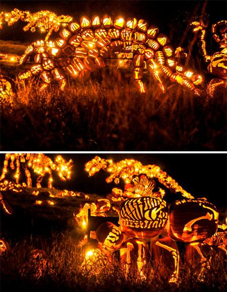 Dinosaur Pumpkins Jack O Lanterns 3