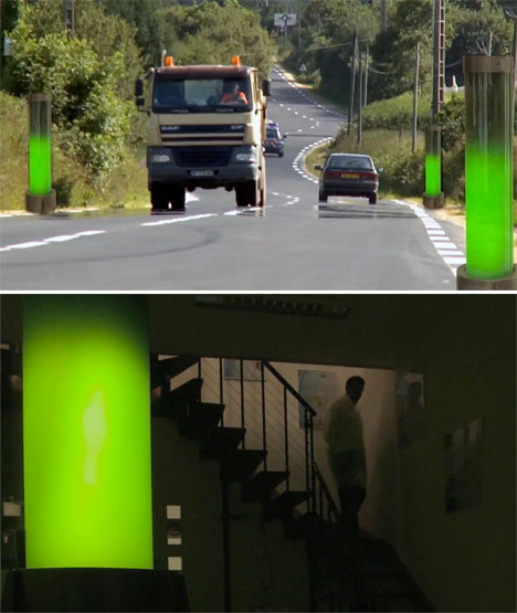 Glow in the Dark Algae Street Lamps