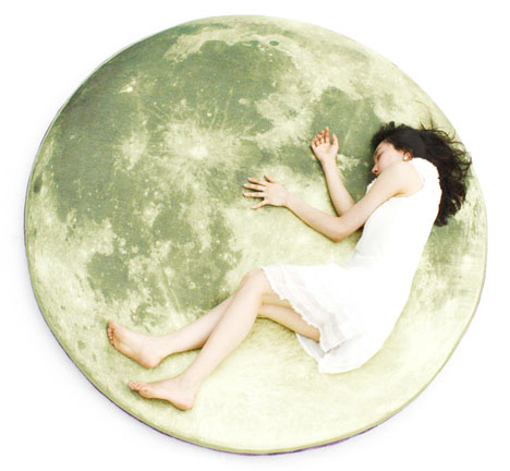 Glow in the Dark Moon Pillow 1