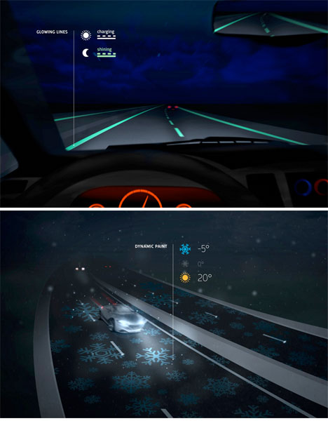 Glow in the Dark Roads Smart Highway