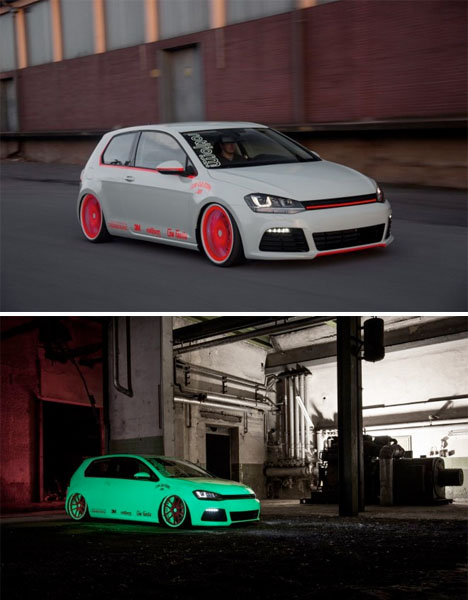 Glow in the Dark VW Golf Car