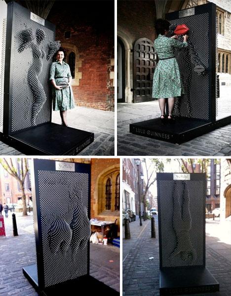 Interactive Urban Art Pinscreen