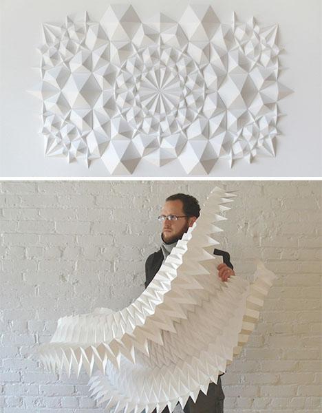 Paper Sculpture Matthew Shlian