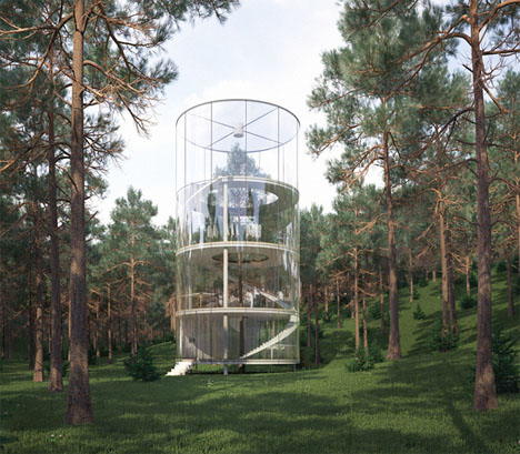 Tree Tower Glass House 1