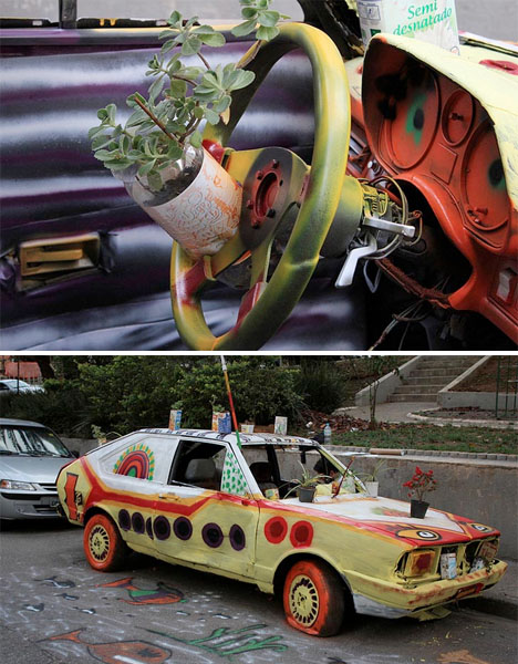 Yellow Submarine Abandoned Car 3