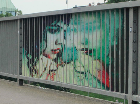angled graffiti right perspective