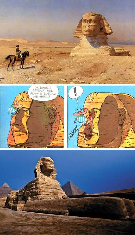 Great Sphinx Egypt vandalized nose Napoleon