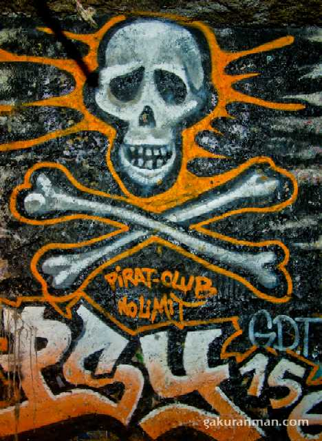 Paris Catacombs graffiti