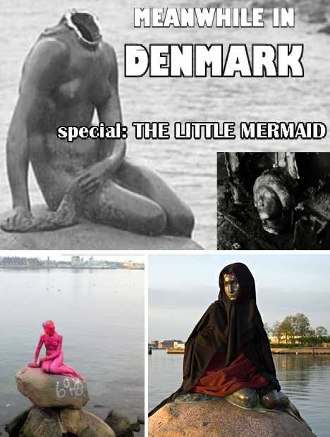 The Little Mermaid vandalism