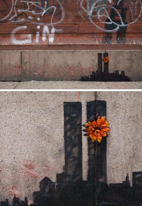 banksy 911 tribute art