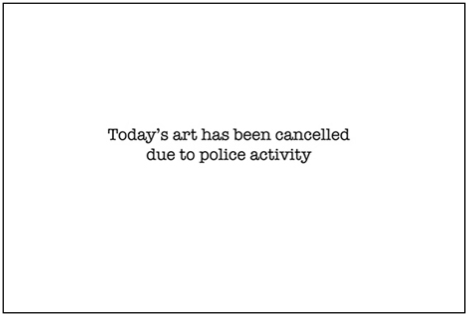 banksy art cancelled police